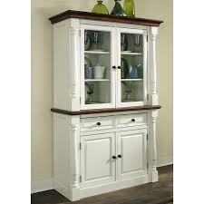 Kitchen Cabinets From China by Home Styles Monarch China Cabinet White U0026 Oak Hayneedle