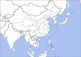 Map Asia Blank by China Japan Korea Map