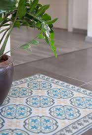 sale pvc vinyl mat tiles pattern decorative linoleum rug blue and