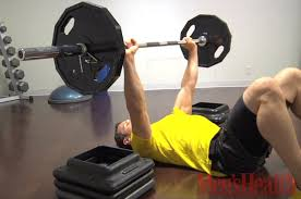 Chest Workouts Without Bench How To Do The Barbell Floor Press Men U0027s Health Youtube