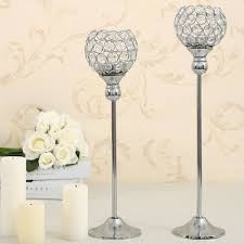 aliexpress com buy crystal candle holder set metal candlestick