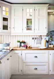 Pretty Wood Countertop Love These White Cabinets Too  Pinteres - White kitchen cabinets with butcher block countertops