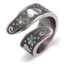 rings with birthstones personalized couples birthstone ring with flower design
