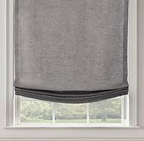 Roman Shade Hardware Kits - washed belgian linen relaxed roman shade