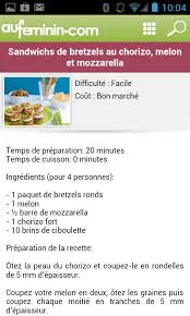 cuisine au feminin cuisine aufeminin pour android télécharger
