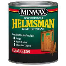 minwax 1 qt high gloss helmsman indoor outdoor spar urethane high gloss helmsman indoor outdoor spar urethane