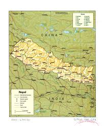 Nepal World Map Large Detailed Political And Administrative Map Of Nepal With