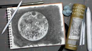 how to draw a full moon in charcoal lovefallart harvest moon