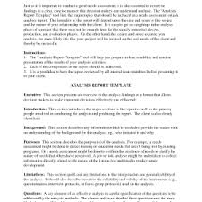 analytical report template statistical analysis reports analytical report template