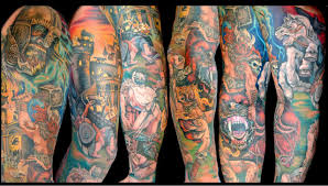 viking sleeve colored design ideas
