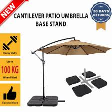 Patio Umbrellas Ebay by Outdoor Patio Garden Cantilever Umbrella 60kg Cross Bracket Stand