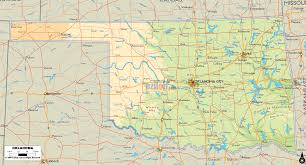 Map Of Oklahoma State by Oklahoma Map Travel Map Vacations Travelsfinders Com