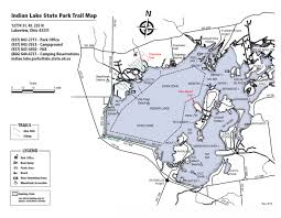 Ohio Campgrounds Map Hiking And Biking At The Lake Active Indian Lake Ohio