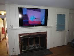 creative tv mount for fireplace mantel home design new fantastical