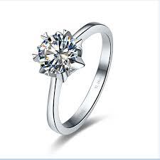 wedding ring test new design 1ct snow flake style certificate moissanite ring test