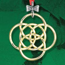 and hammer five golden rings silver ornament