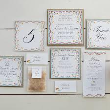 wedding invitation sets wedding invitation stationery sets rectangle landscape brown