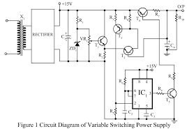 power supply circuit electronics projects variable switching