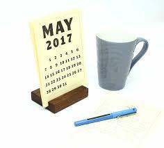 Desk Calendar With Stand Wood Block Desk Calendar Stand Happy Bungalow