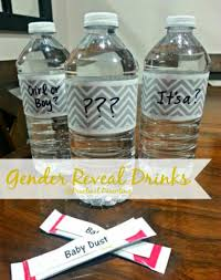 gender reveal drinks what a idea for family and