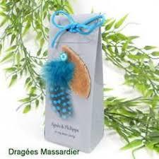 bonbonniã re mariage kit dragées charm turquoise or confiserie massardier ballotins