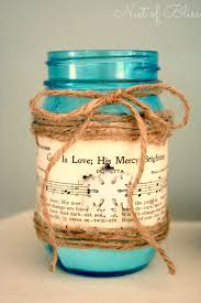 diy sheet music mason jar candle