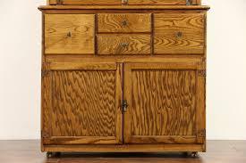 hygena english 1930 u0027s oak vintage hoosier kitchen cupboard or