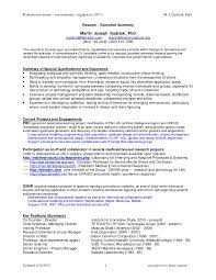 Sample Underwriter Resume by Martinjdudziak Biocyb Resume Execsumm July2011