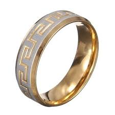 stainless steel mens rings gold silver great wall 316l stainless steel men ring jewelry at