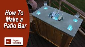 coffee table with cooler how to make a patio bar diy concrete counter bar with wood base