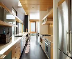 Contemporary Galley Kitchens Galley Kitchen Kitchen Contemporary With Floor Tile Built In