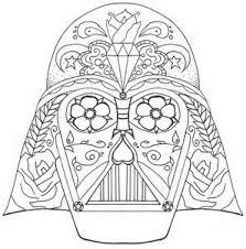 Darth Vader Sugar Skull Fun Pinterest Darth Vader Sugar Darth Vader Coloring Pages