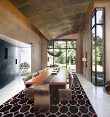 Concrete Dining Room Table Painting Concrete Floors Dining Room Modern With Recessed Lights