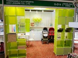 green color diy plastic closet drawers with white door view