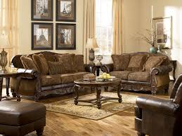 cosy rustic living room concept with additional classic home