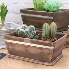 personalised wooden pot planter by warner u0027s end