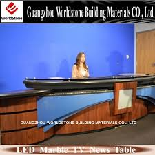 Modern Led Desk L Simple And Modern Led Table L Shape Tv News Desk Buy L Shape Tv