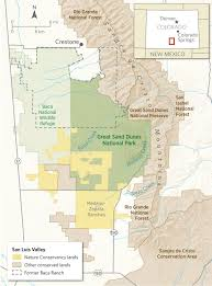 Crestone Colorado Map by Saving The Great Sand Dunes Nature U0027s Web Of Life