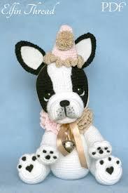 etsy crochet pattern amigurumi elfin thread gaspard the french bulldog clown pdf amigurumi