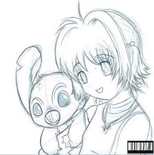 sakura n stitch sketch by galletoconk on deviantart