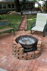 Old Fire Pit - check out this fire pit made with free bricks and an old chimenea