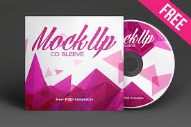 free cd sleeve mock up in psd free psd templates