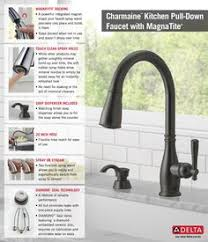 kitchen faucet with sprayer and soap dispenser delta charmaine single handle pull sprayer kitchen faucet in