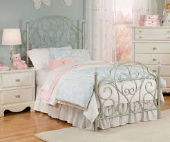 Bedrooms With Metal Beds Spring Rose Metal Bed For Girls Twin Size Bed With Crystal Knobs