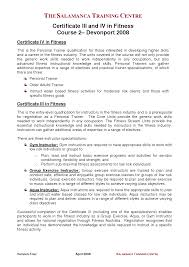exles of resume cover letter cover letter sle personal trainer best of remarkable personal