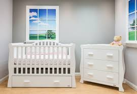 Sleigh Cot Bed White Br Baby Oslo Wardrobe In White