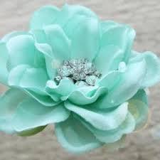 mint green flowers seafoam flower hair clip mint green hair clip something blue
