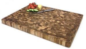 circular solid teak end grain butchers block chopping board