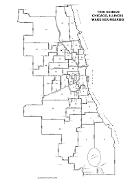 Chicago Printable Map by Ward Map Chicago Adriftskateshop