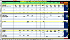 Personal Finance Spreadsheet Free 12 Month Advanced Finances Tracking And Analysis Spreadsheet